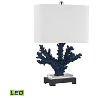 Dimond Lighting D3026-LED Cape Sable 26 inch 9.5 watt Navy Blue,Black Table Lamp Portable Light in LED