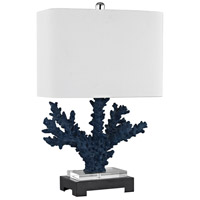 Dimond Lighting D3026 Cape Sable 26 inch 150 watt Navy Blue,Black Table Lamp Portable Light in Incandescent