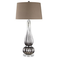 Pasha 36 inch 150 watt Silver and Chocolate Table Lamp Portable Light