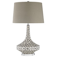 Gigi 29 inch 150 watt Grey Polkadot Glaze Table Lamp Portable Light
