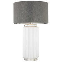 McCall 32 inch 150 watt White and Polished Nickel Table Lamp Portable Light