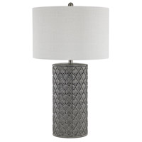 Ceramic 29 inch Grey Glaze Table Lamp Portable Light
