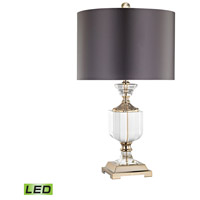 Dimond Lighting D3081-LED Highclere 24 inch 9.5 watt Clear/Gold Table Lamp Portable Light in LED