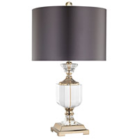 Highclere 24 inch 150 watt Clear,Gold Table Lamp Portable Light in Incandescent