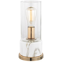 Dimond Lighting D3082 Richmond Hill 13 inch 40 watt Clear,White Faux Marble Table Lamp Portable Light