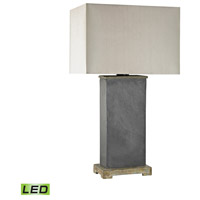 Elliot Bay 28 inch 9.5 watt Grey Slate Outdoor Table Lamp in LED