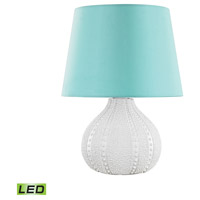 Aruba 19 inch 9.5 watt White Outdoor Table Lamp in LED