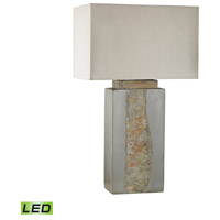 Musee 32 inch 9.5 watt Grey,Natural Slate Outdoor Table Lamp in LED