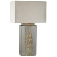 Dimond Lighting Musee 1 Light Outdoor Table Lamp in Grey,Natural Slate D3098