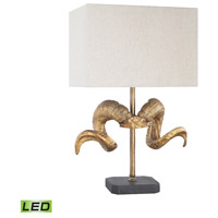 Dimond Lighting D3103-LED Impact 26 inch 9.5 watt Gold,Black Table Lamp Portable Light in LED