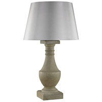 Saint Emilion 30 inch 100 watt Concrete Outdoor Table Lamp in Incandescent