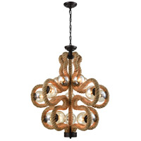 Maestro 15 Light 32 inch Natural Rope Chandelier Ceiling Light