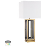 Hancock Park 27 inch 60 watt Antique Brass Table Lamp Portable Light