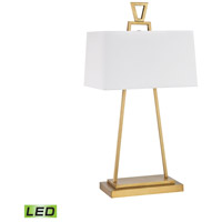 Hellenikon 33 inch 9.5 watt Antique Brass Table Lamp Portable Light in LED