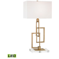 Duet 27 inch 9.5 watt Antique Brass Table Lamp Portable Light in LED