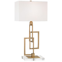 Duet 27 inch 100 watt Antique Brass Table Lamp Portable Light in Incandescent