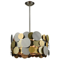 Dimond Lighting D3132 Prizzi 4 Light 19 inch Pewter,Gold,Antique Brass Pendant Ceiling Light