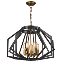 Dimond Lighting D3133 Fluxx 5 Light 24 inch Bronze Chandelier Ceiling Light