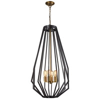Fluxx 4 Light 20 inch Bronze Chandelier Ceiling Light