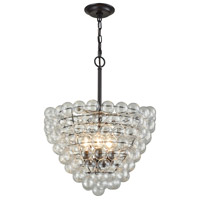 Dimond Lighting D3146 Cuvee 3 Light 19 inch Oil Rubbed Bronze,Clear Chandelier Ceiling Light