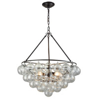 Cuvee 3 Light 24 inch Oil Rubbed Bronze,Clear Chandelier Ceiling Light