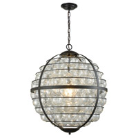 Dimond Lighting D3148 Skorpius 1 Light 24 inch Oil Rubbed Bronze,Clear Chandelier Ceiling Light