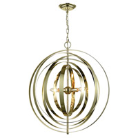 Synchrony 3 Light 24 inch Gold Plate Chandelier Ceiling Light, Round