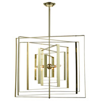 Synchrony 3 Light 30 inch Gold Plate Chandelier Ceiling Light, Square