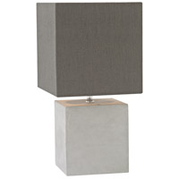 Brocke 15 inch 40 watt Polished Concrete Table Lamp Portable Light