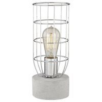 Wardenclyffe 12 inch 60 watt Polished Concrete and Polished Nickel Table Lamp Portable Light