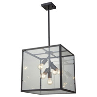 Cluster Box 5 Light 16 inch Oil Rubbed Bronze Pendant Ceiling Light