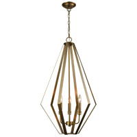 Headline 3 Light 20 inch Antique Silver Leaf Chandelier Ceiling Light