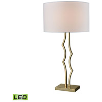 Groove 32 inch 9.5 watt Antique Silver Leaf Table Lamp Portable Light in LED