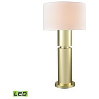Nikki 34 inch 9.5 watt Gold Plate Table Lamp Portable Light in LED