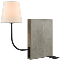 Dimond Lighting Sector 1 Light Table Lamp in Concrete,Oil Rubbed Bronze D3206