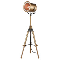 Ethan 20 inch 60 watt Aged Brass Tripod Lamp Portable Light
