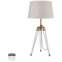 Dimond Lighting D3227-HUE-D Grosvenor Square 28 inch 60 watt Aged Brass with Clear Table Lamp Portable Light