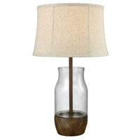 Camarillo 28 inch 100 watt Wood Stain and Clear Outdoor Table Lamp