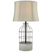 Dimond Lighting D3289 Rochefort 28 inch 100 watt Polished Concrete and Oil Rubbed Bronze Outdoor Table Lamp
