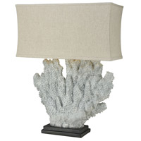 Sandy Neck 40 inch 100 watt Distressed Grey Coral Outdoor Table Lamp, Oversized