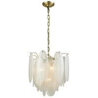 Dimond Lighting D3310 Hush 4 Light 18 inch White Chandelier Ceiling Light, Small