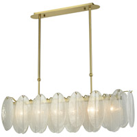 Hush 6 Light 47 inch White Island Light Ceiling Light