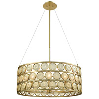 Signet 10 Light 32 inch Light Amber Smoke and Gold Chandelier Ceiling Light