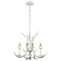 Dimond Lighting D3316 Big Sky 3 Light 17 inch White Chandelier Ceiling Light