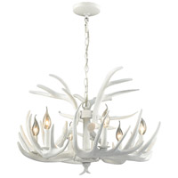 Big Sky 6 Light 25 inch White Chandelier Ceiling Light
