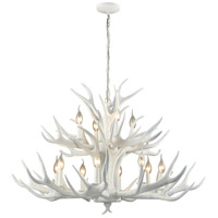 Dimond Lighting D3318 Big Sky 12 Light 39 inch White Chandelier Ceiling Light