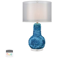 Dimond Lighting D3326-HUE-D Portonovo 28 inch 60 watt Blue Table Lamp Portable Light in Dimmer, Hue LED, Philips Friends of Hue
