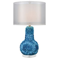 Dimond Lighting D3326 Portonovo 28 inch 150 watt Blue Table Lamp Portable Light in Incandescent, 3-Way