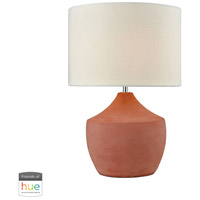 Curacao 17 inch 60 watt Coral Table Lamp Portable Light