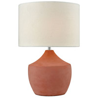 Curacao 17 inch 100 watt Coral Table Lamp Portable Light